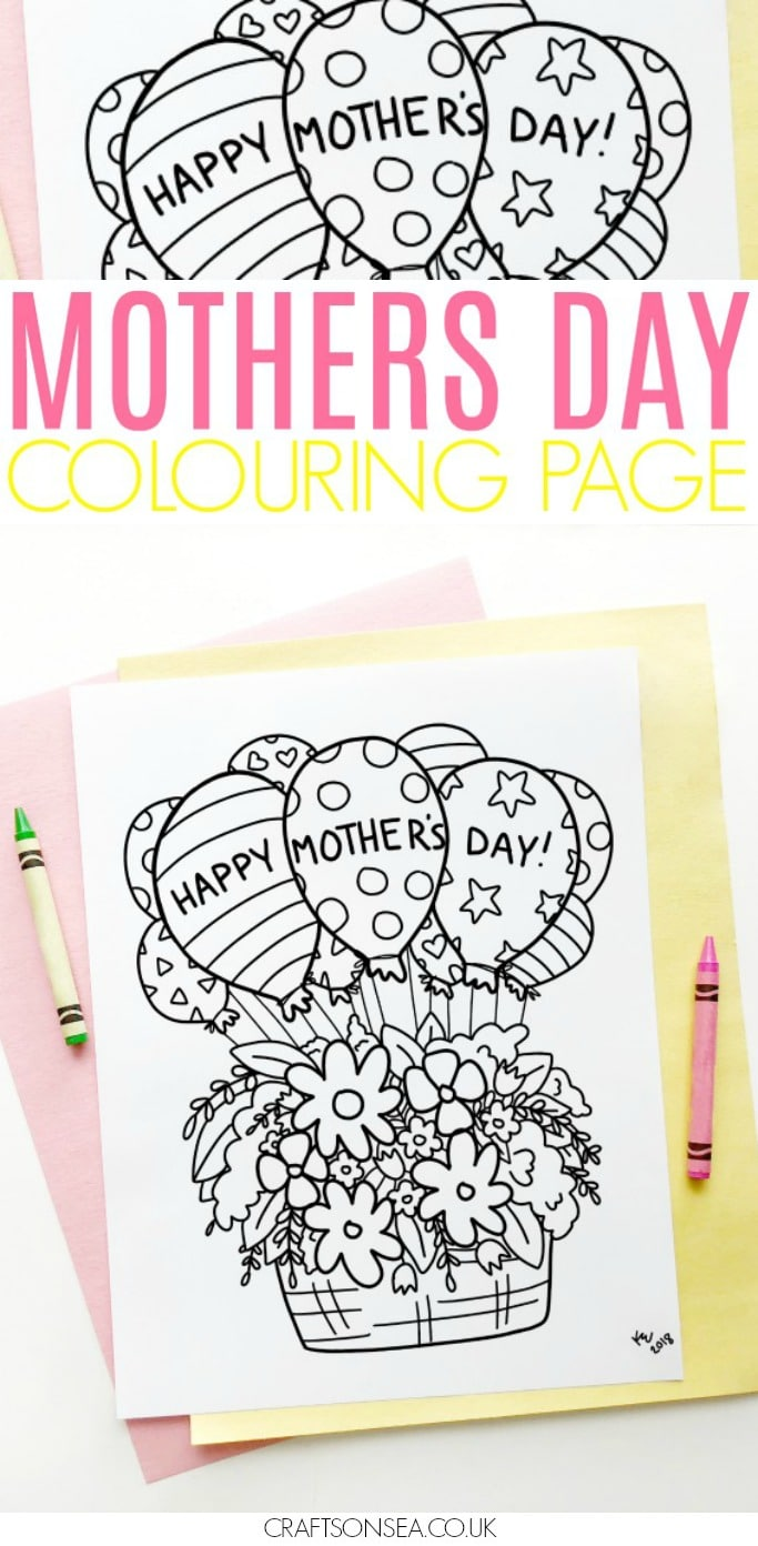 mothers day coloring page for kids free