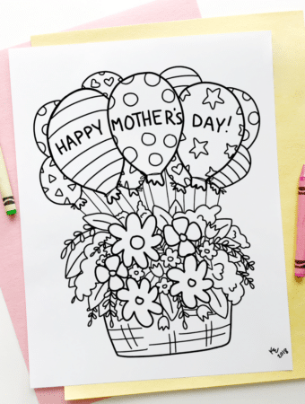 mothers day colouring page free