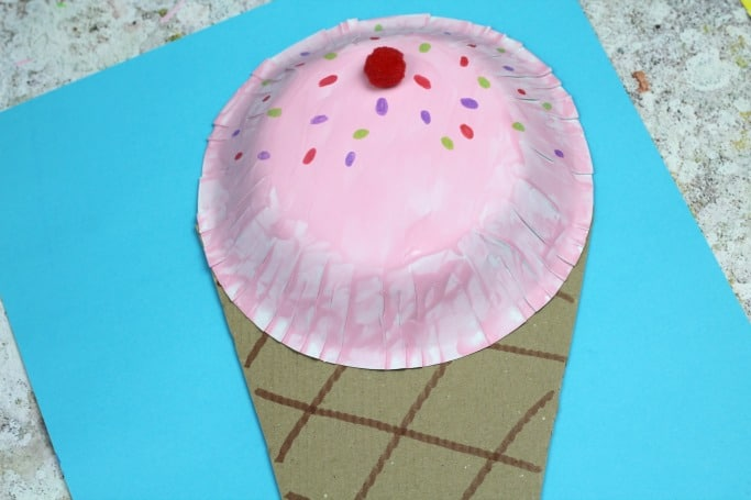 paper bowl ice cream craft for kids