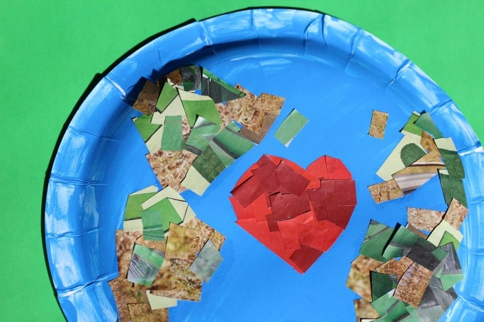 paper plate collage earth day craft