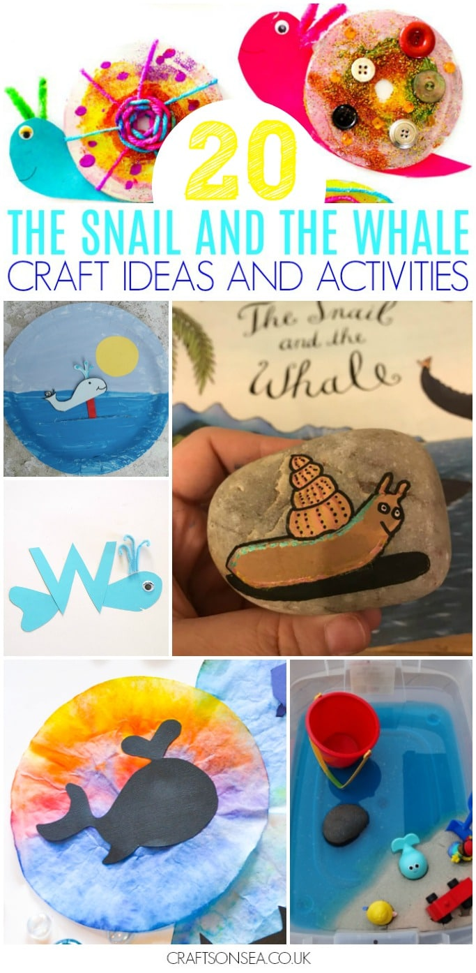 the snail and the whale activities and craft ideas for kids