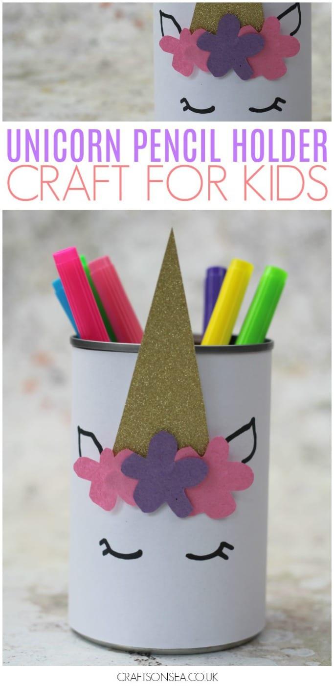 unicorn pencil holder craft for kids