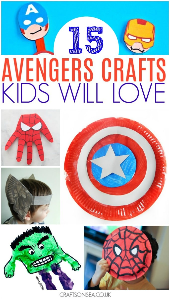 avengers crafts for kids diy easy