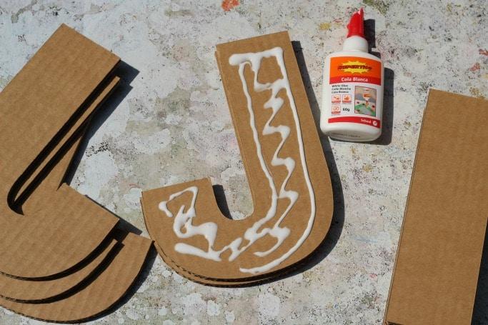 cardboard letter kit