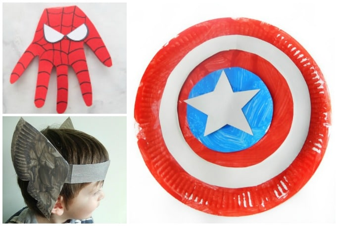 easy avengers crafts for kids