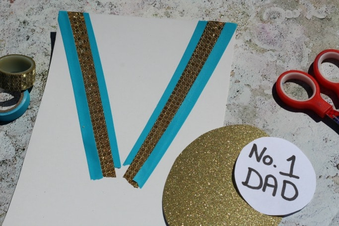 easy fathers day card medal