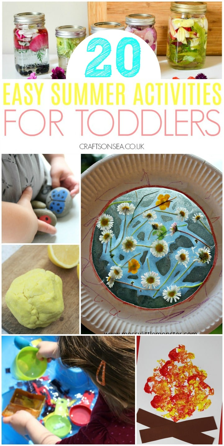 easy summer activities for toddlers sensory play