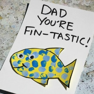 fathers day card fish preschool toddlers 300