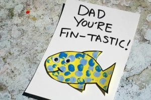 fathers day card fish preschool toddlers can make