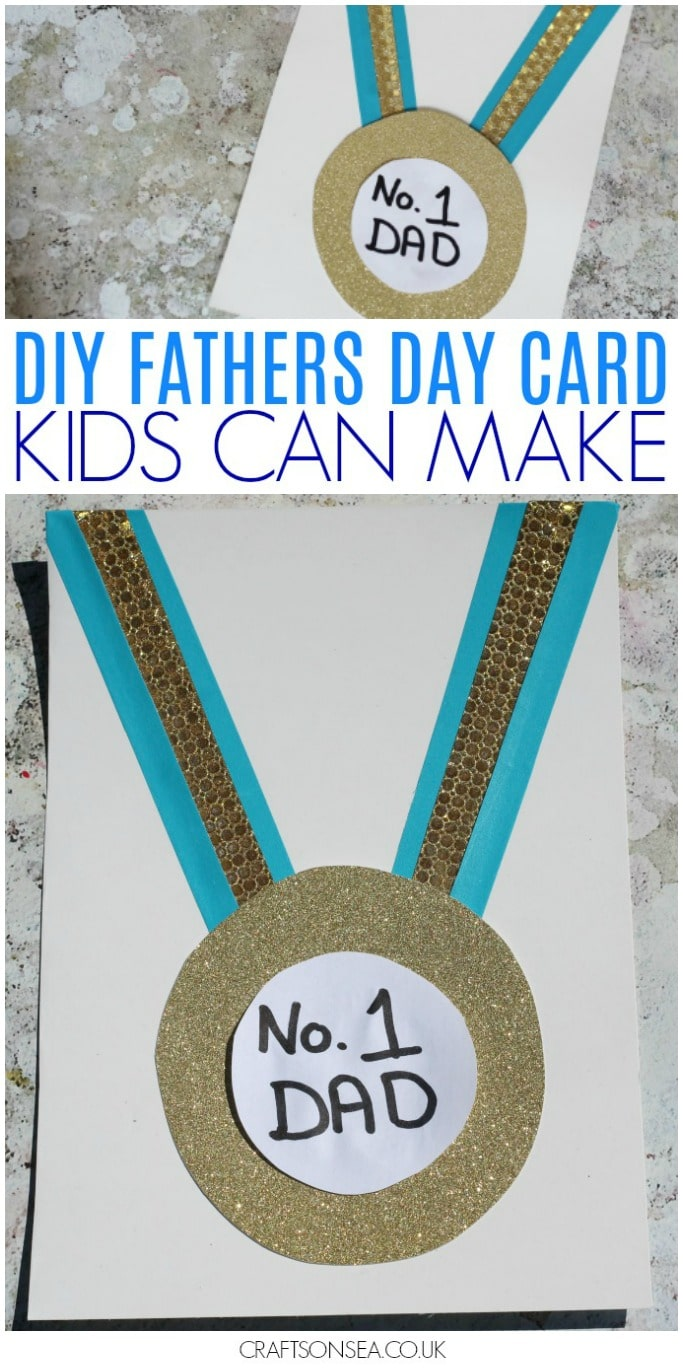 fathers day card kids can make medal