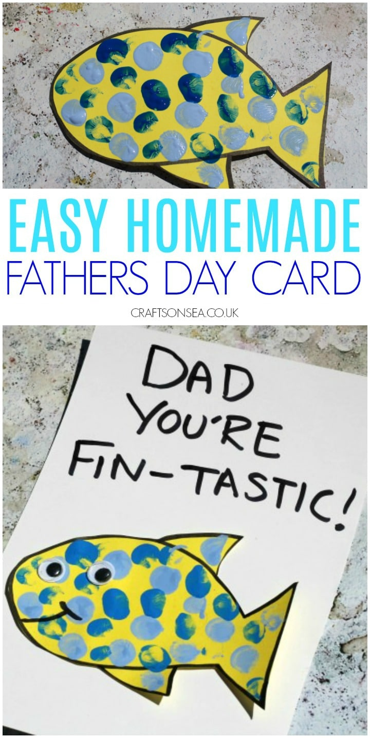 Fish Fathers Day Card Kids Can Make Crafts On Sea