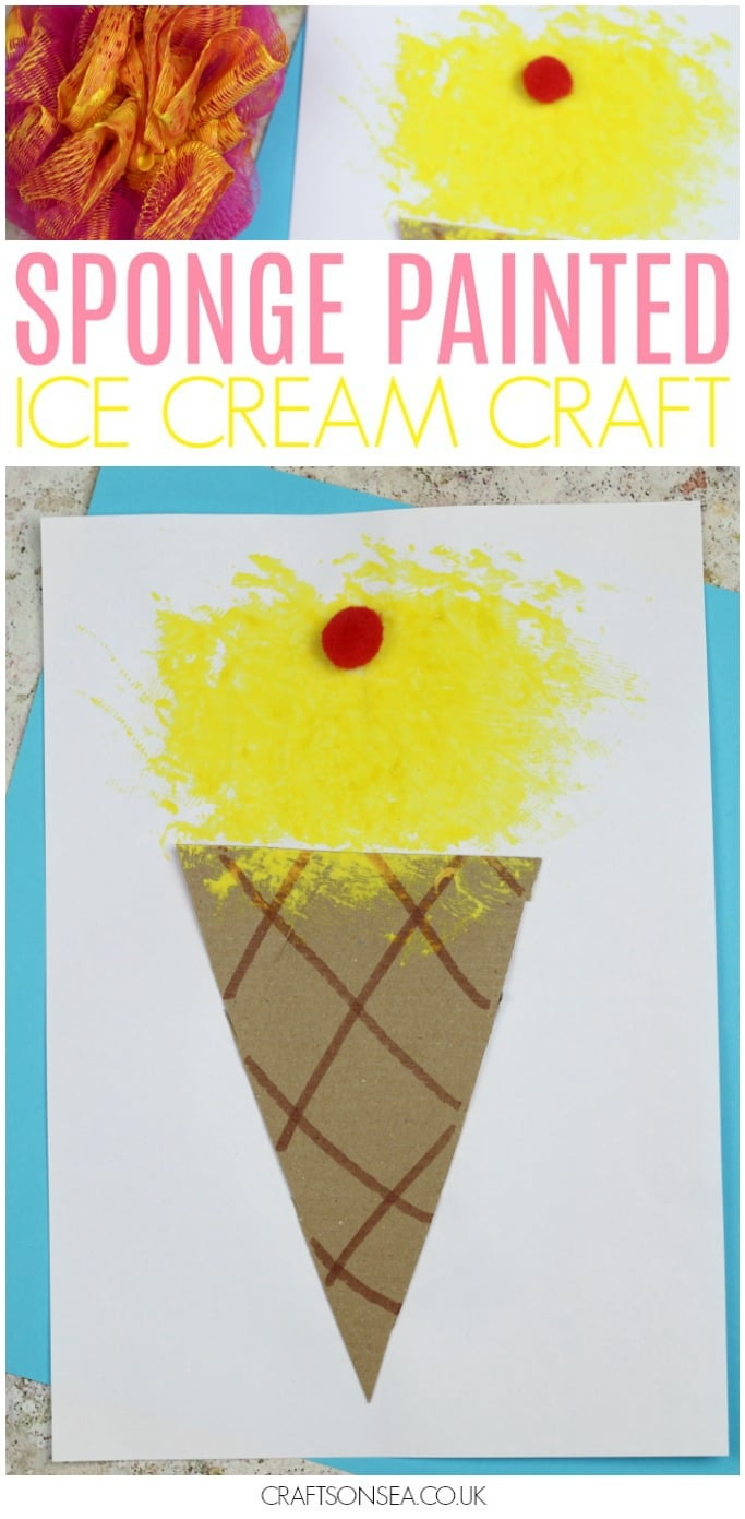 ice cream craft for kids preschool summer