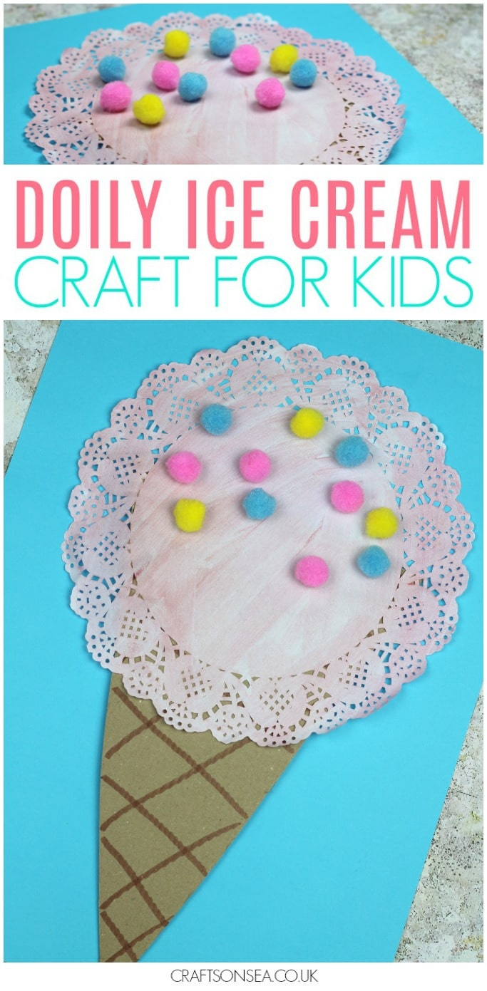 ice cream craft for kids summer