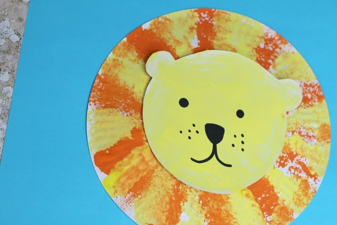 lion craft for kids easy : paper plate lions - Pezcame.Com