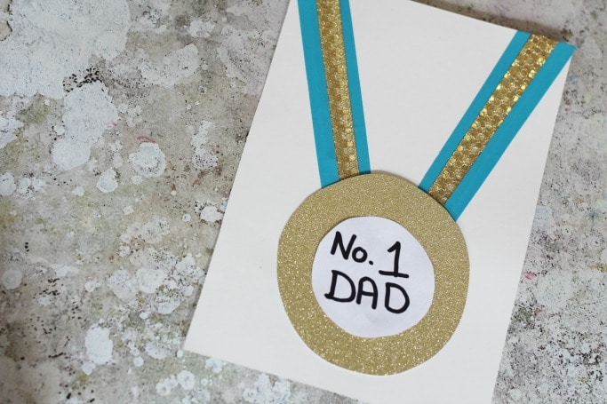 number one dad fathers day card