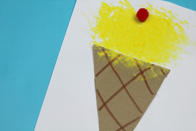 sponge painted ice cream craft
