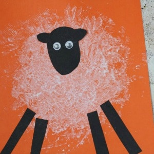 sponge painted sheep 300