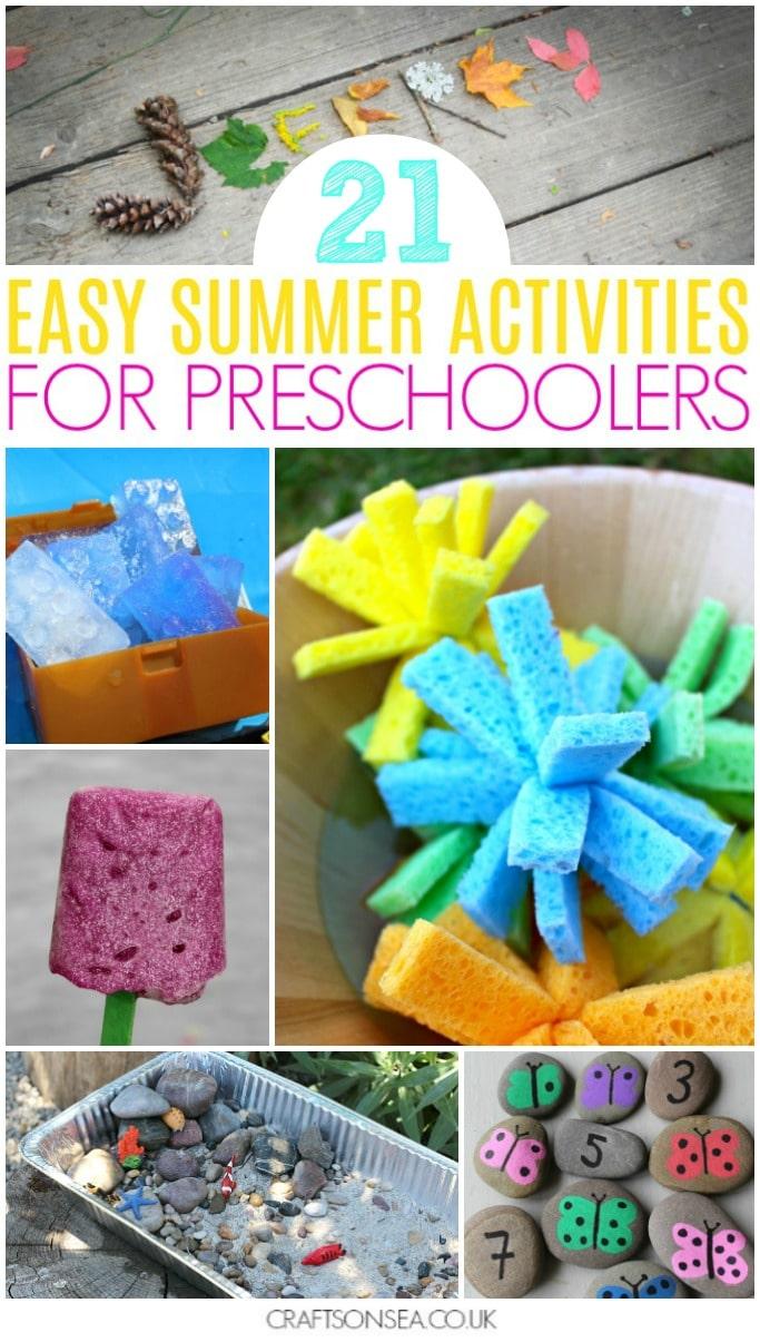 summer activities for preschoolers easy