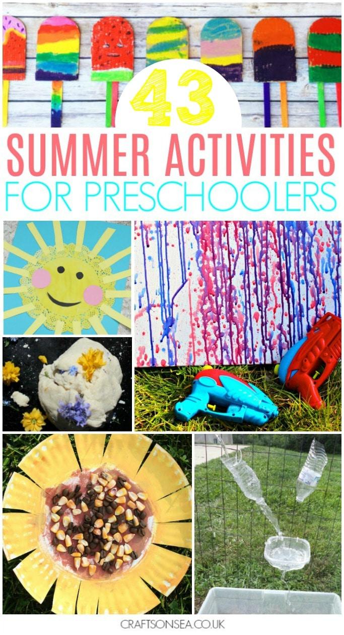 summer activities for preschoolers ideas