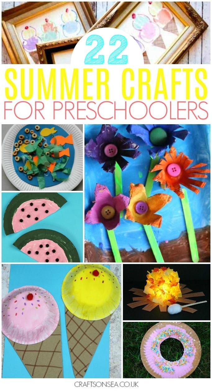 40 Super Fun Summer Activities For Preschoolers Crafts On Sea