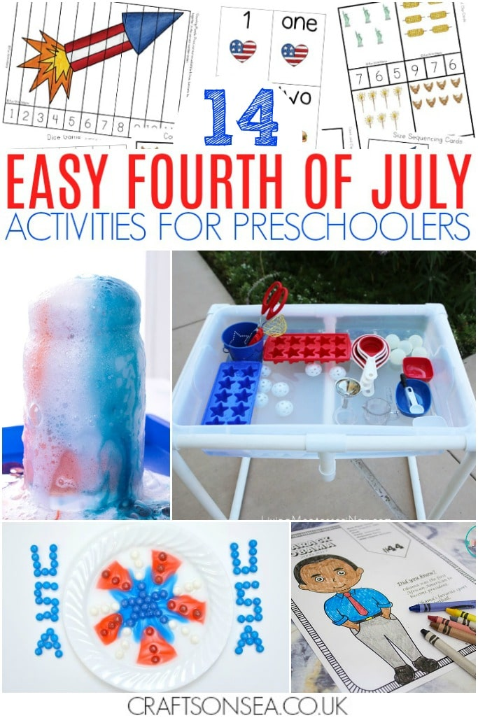 4th of july activities preschool easy worksheets