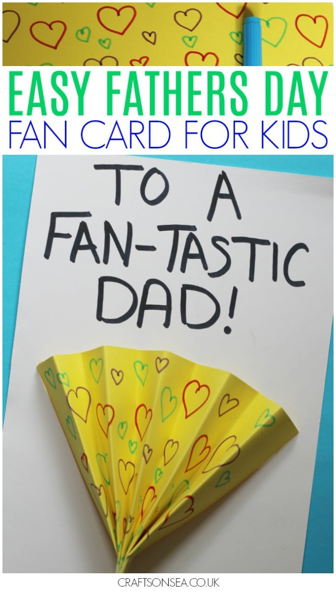 Fathers Day cards from kids easy fan craft
