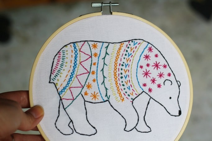 embroidery kits bear