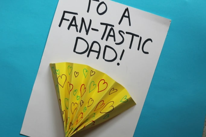 fathers day card kids can make fan