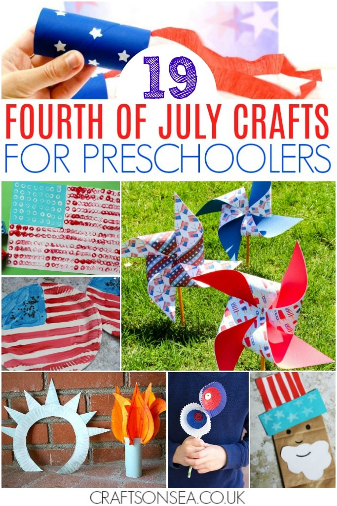 fourth of july crafts for preschoolers patriotic red white and blue art projects