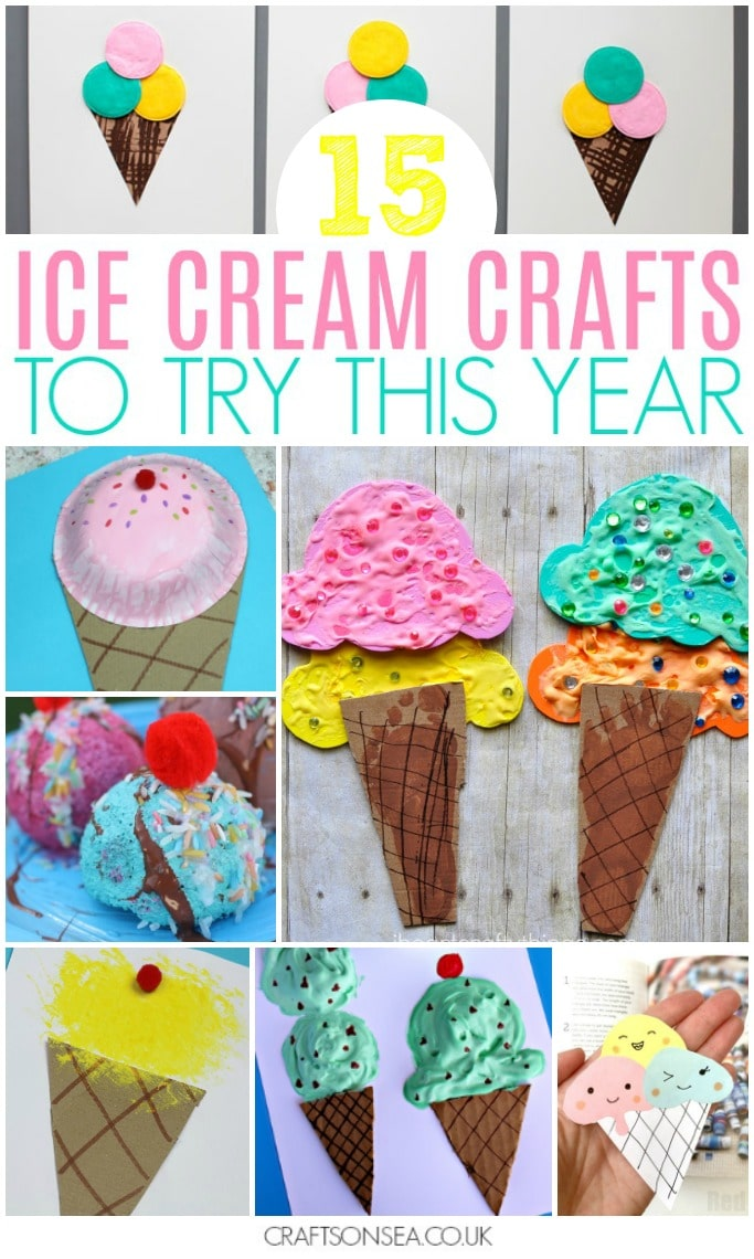 ice cream crafts for kids preschoolers toddlers summer activities