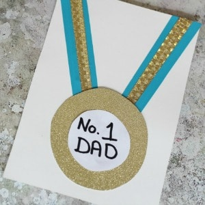 number one dad fathers day card 300