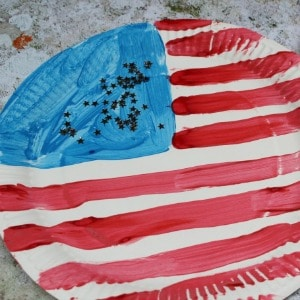 paper plate flag 300