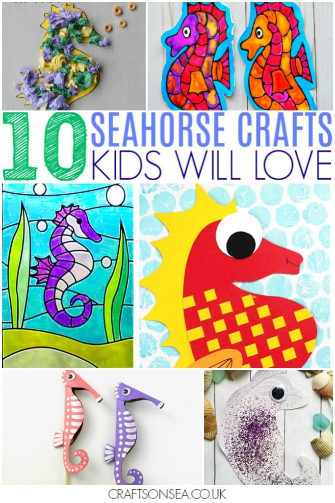 10 Seahorse Crafts For Kids Crafts On Sea