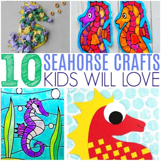 seahorse craft round up square