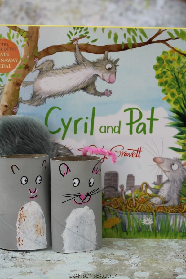 Cyril and Pat Emily Gravett Rat and Squirrel toilet roll craft for kids book activity