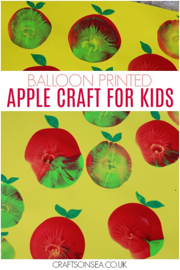 apple craft for kids balloon preschool activity