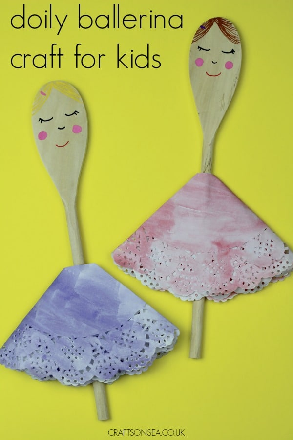 ballerina crafts for kids doily