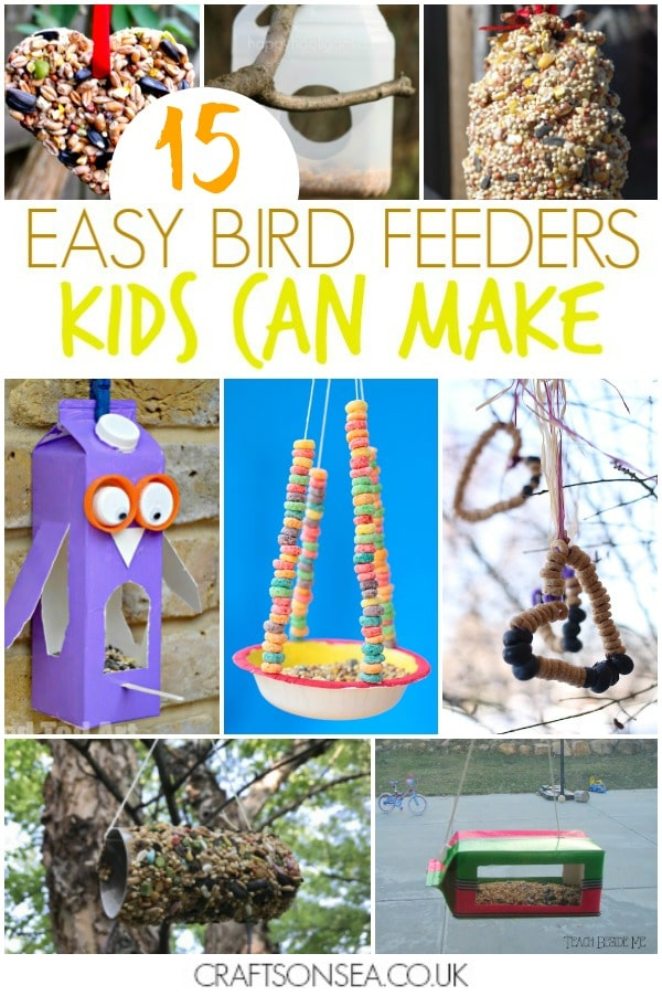 bird feeders diy kids