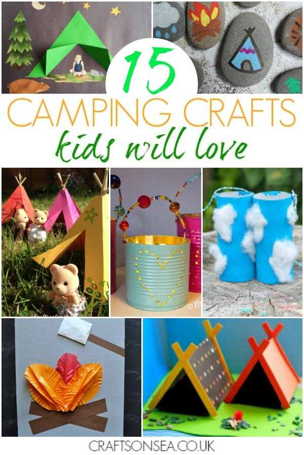 camping crafts for kids easy