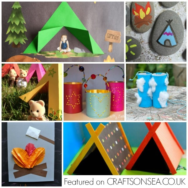 camping crafts for kids fun