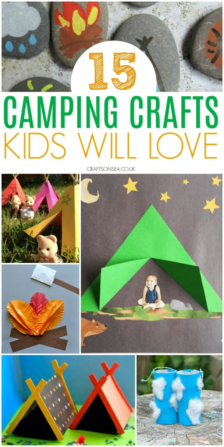 camping crafts for kids tents campfires binnoculars