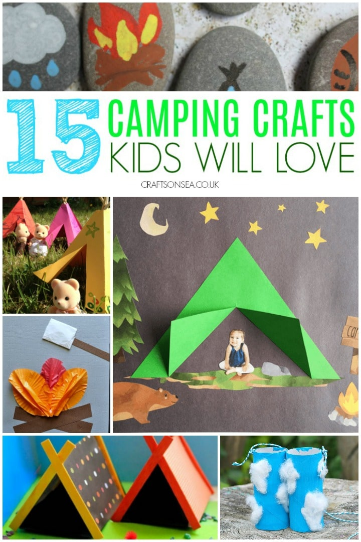 camping crafts kids can make tent campfire