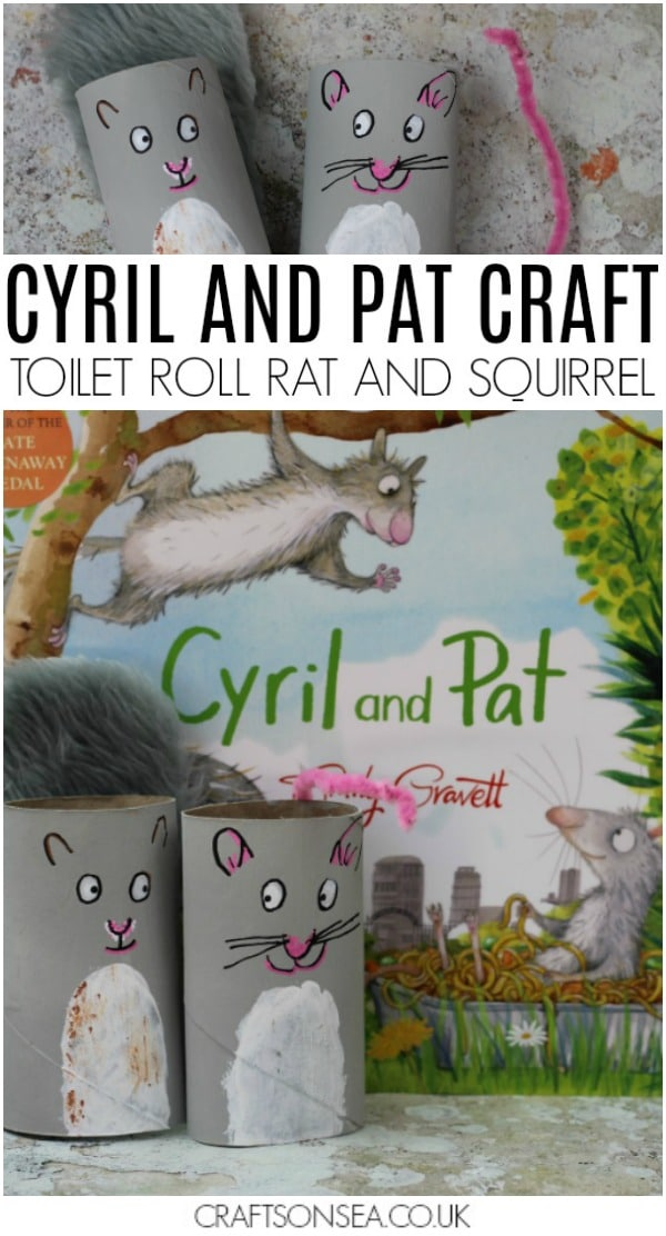 cyril and pat craft for kids toilet roll rat and squirrel book activity