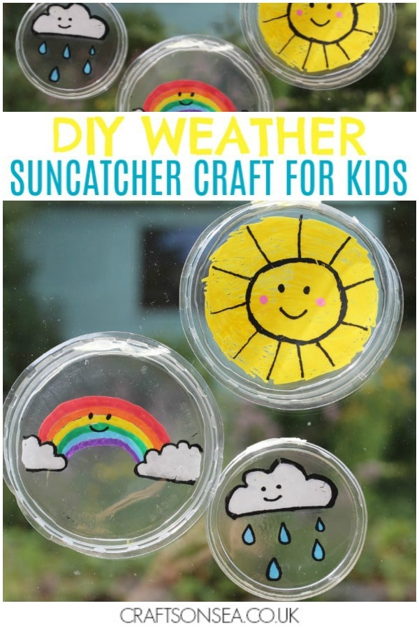 diy suncatcher craft for kids weather rainbow