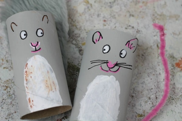 rat and squirrel toilet roll craft for kids