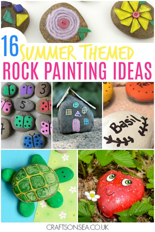 rock painting ideas for kids easy tutorials for summer