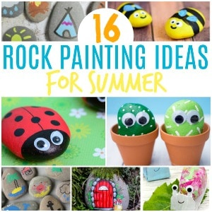 rock painting ideas for kids summer 300