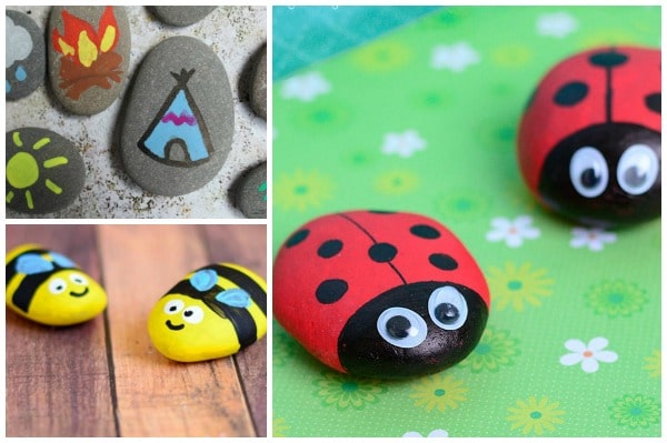 Rock Painting Ideas for Kids: Summer Themed - Crafts on Sea
