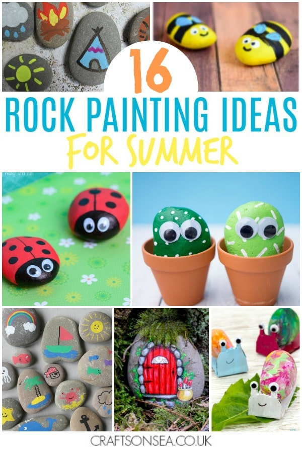 rock painting ideas for kids summer