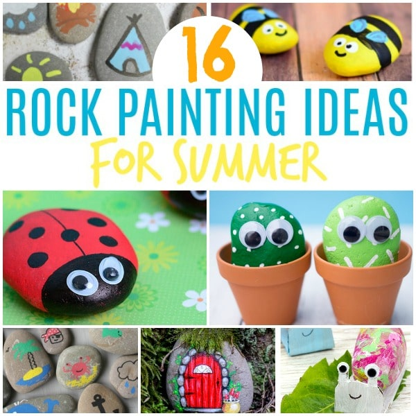 rock painting ideas for summer kids inspiration